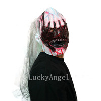 Nieuwe Collectie Variat Vampire Masker Horror Latex Volledige Hoofd Duivel Catch Ghost Masker Enge Bloed Gezicht Zombie Halloween Masker Party Prop