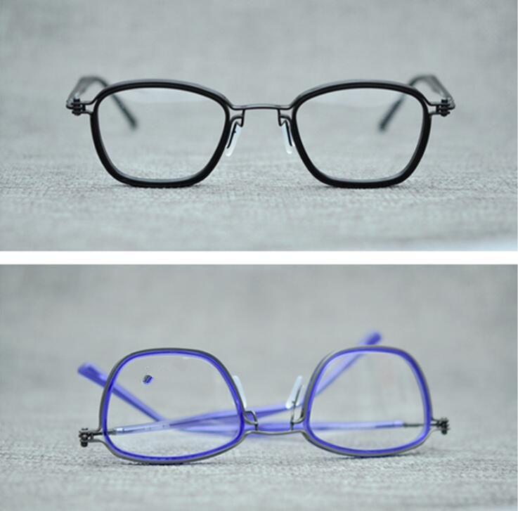 LKK Hand plate frame pure titanium spectacle frame retro glasses frame men s and women s