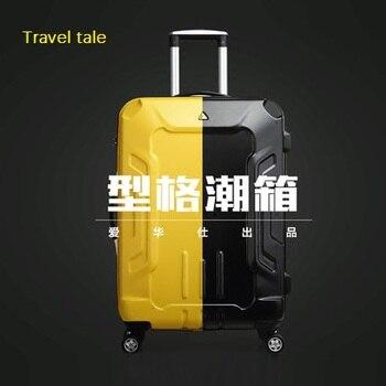 4d3dd2f69 Travel tale estéreo apariencia, de alta calidad, líneas musculares ABS  Rolling equipaje Spinner marca viaje maleta 20