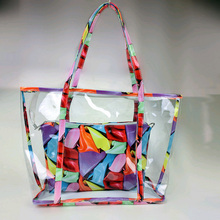 REAL PHOTO 2015 new arrival design High quality candy color handbag waterproof beach bags