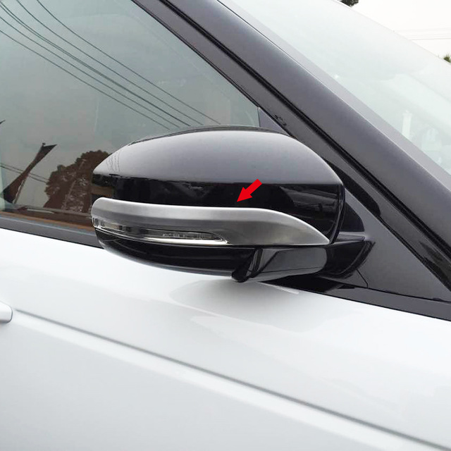 Fit For Range Rover Sport 2014 2015 ABS matte Side Rearview Mirror Molding Strip Cover Trim