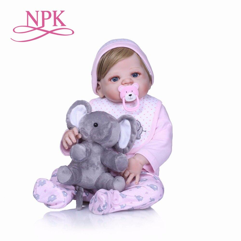 NPK Boneca Reborn 22inch full Silicone Vinyl Dolls 55cm Reborn Baby Doll Newborn Lifelike Bebes Reborn