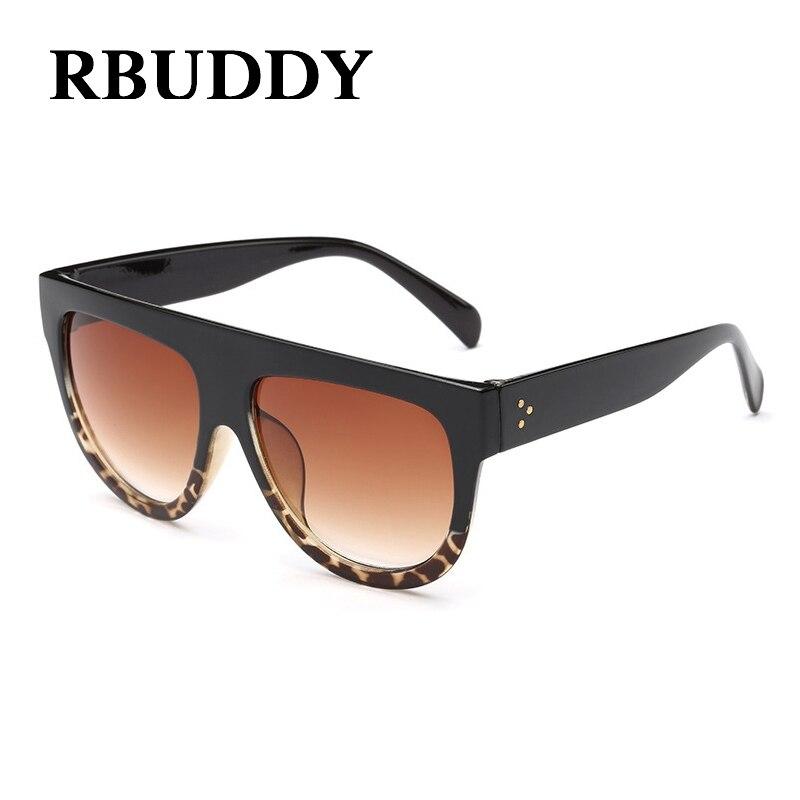 RBUDDY Kim Kardashian Sunglasses Wanita Flat Top Klasik Super Merek - Aksesori pakaian - Foto 5