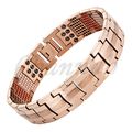 Channah 2017 Men 4in1 Magnets Negative Ions Germanium Far Infra Red Titanium Bracelet Rose Gold Bangle Free Shipping Charm
