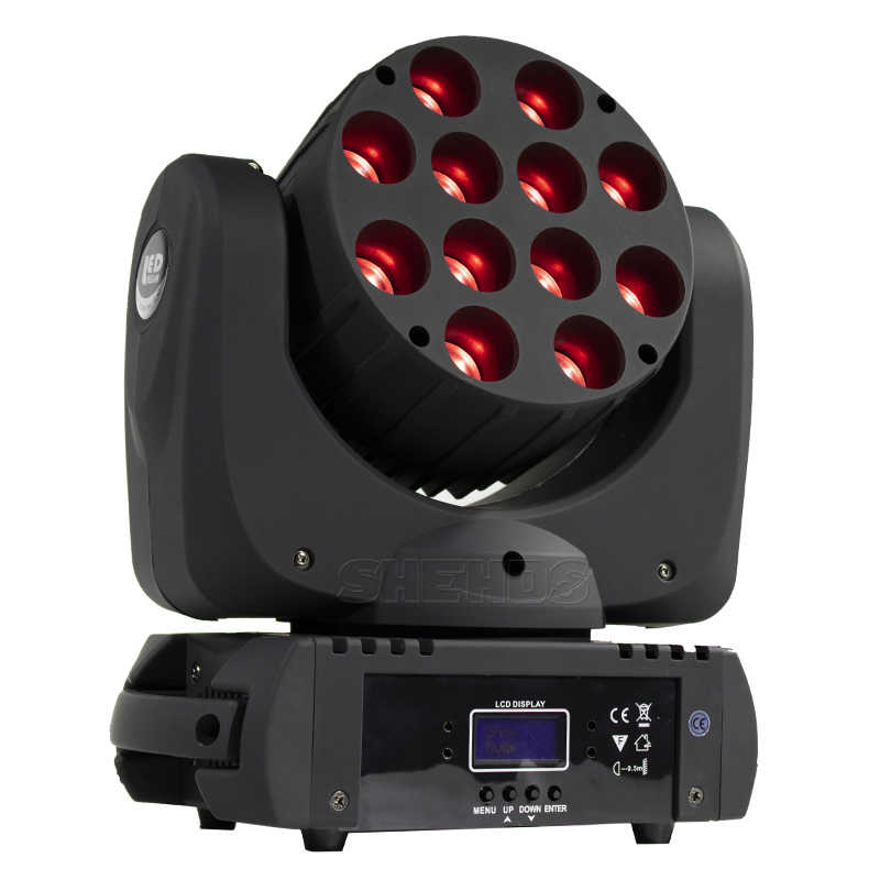 Lier DMX Stage Light LED Moving Head LED Beam 12X12W RGBW Professioneel Podium DJ Mini LED 10W Spot Beam Thuis SHEHDS