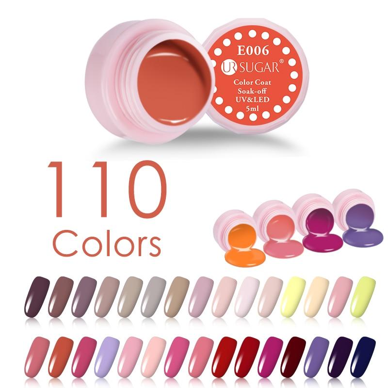 UR SUGAR 5мл Macaron Soak Off UV Гель 110 Pure Colors Effect - Маникюр - фото 2