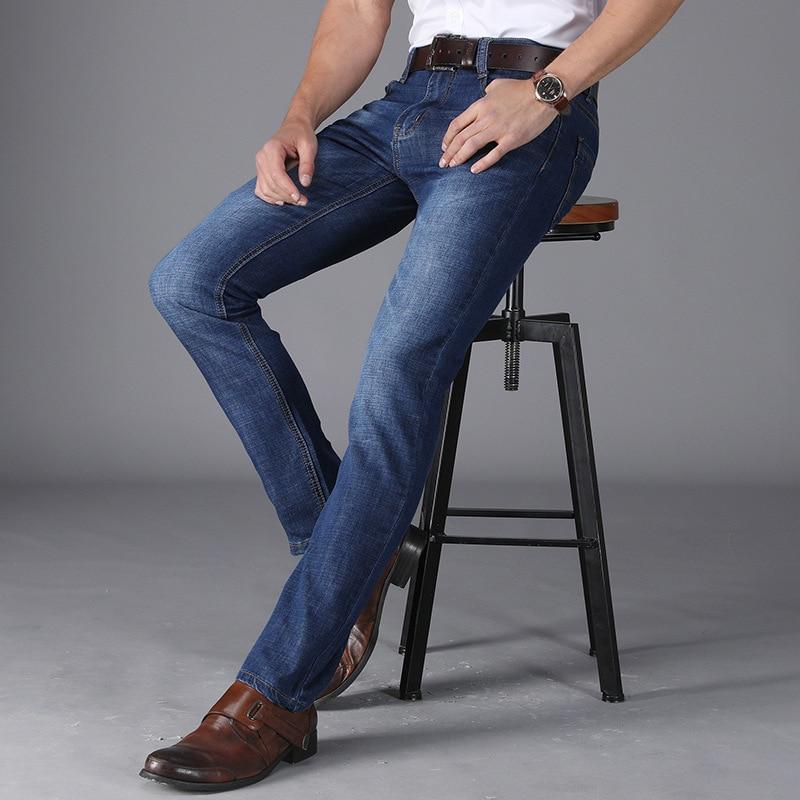 Gi. amagi Jeans verano tramo recto Slim Fit famosa marca azul oscuro ...
