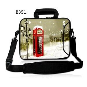 Телефонная будка сумка-мессенджер сумка для ноутбука с ручкой неопрена 17 дюймов 15,6 14 14,1 13 13,6 12