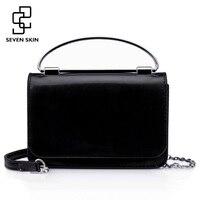 SEVEN SKIN Brand Women Shoulder Bag 2018 Small Chain Women Bag Solid Leather Handbag Women S