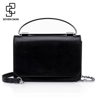 SEVEN SKIN Brand Women Shoulder Bag 2018 Small Chain Women Bag Solid Leather Handbag Women S