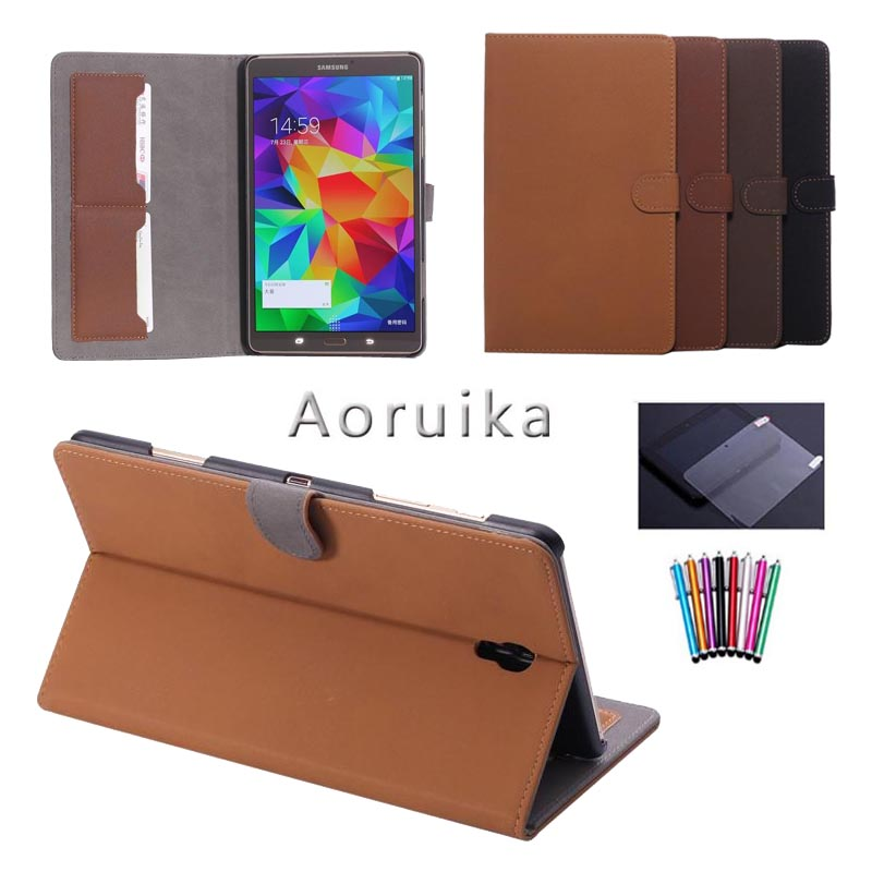 SM-T705C For Samsung Galaxy Tab S 8.4 T700 T705 Luxury Wallet Leather Case Smart Book Cover Flip Magnetic buckle Tablet Case аксессуар чехол samsung galaxy tab a 7 sm t285 sm t280 it baggage мультистенд black itssgta74 1