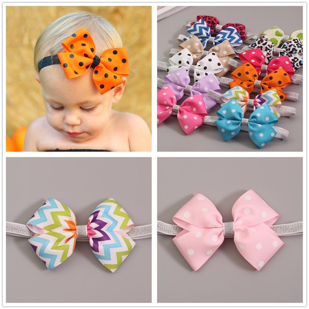 kawaii dodatki za lase naglavni trak otroška dekleta elastični trakovi za lase trakovi loki za novorojenčke fotografijo turban otroški trak za lase