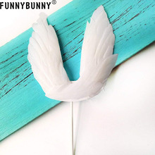 FUNNYBUNNY Angel Wing Cake Topper Decoration For Anniversary, Birthday Party & Wedding Baby Shower