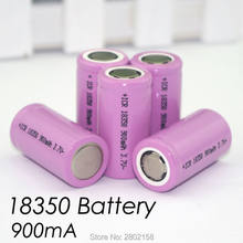 8 PCS. ICR 18350 lithium battery 900 mAh battery 3.7 V power cylindrical lamp electronic smoking(China)