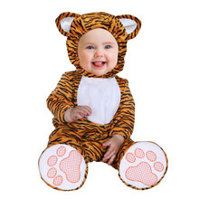 Infant Toddler Animal Tiger Costume for Baby Boys Girls Halloween Purim Party Carnival Costumes Jumpsuit Bodysuit