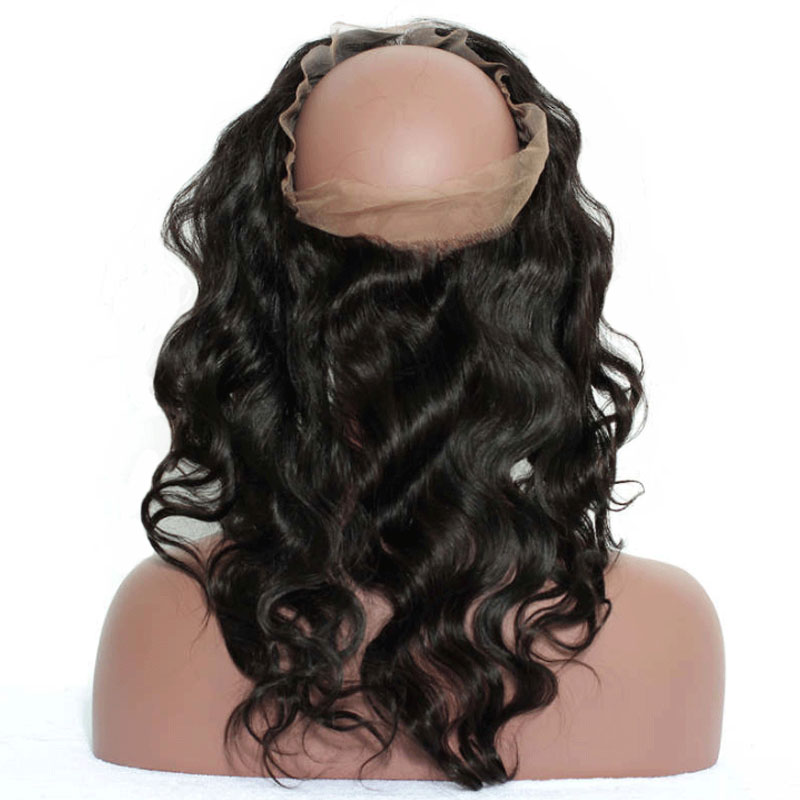 lace front with baby hair Pre-Plucked-360-Lace-Frontal-Closure-With-Baby-Hair-Body-Wave-100-Brazilian-Remy-Hair-Natural
