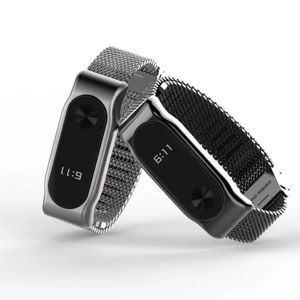 Metal Strap For Xiaomi Mi Band 2 Straps Screwless Stainless Steel Bracelet Smart wristband Replace Band