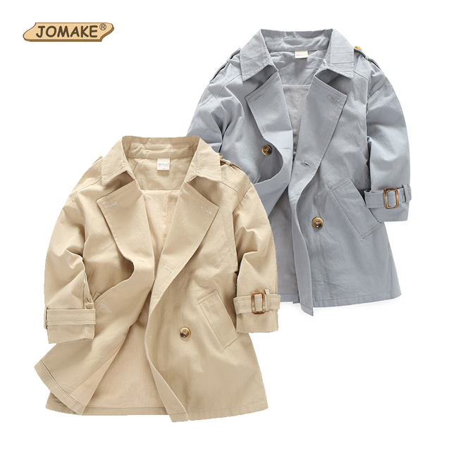 Baby Coats New Autumn Spring 2017 Boys Jackets Long Sleeve Brand Boys Trench Coat Fashion Kids Handsome Outwear Boys Windbreaker