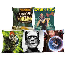 Labirin Sarung Bantal Karloff Sarung Bantal Anime Kursi Mobil Sofa Bantal Cover Home Dekoratif Bantal SJ-048(China)