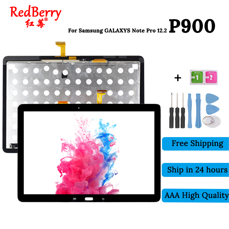 New 12.2 inch P900 For Samsung Galaxy Note Pro 12.2 P900 P901 P905 lcd Display With Touch Screen combo Digitizer Assembly Panel women ladies handbag for 14 15 inch laptop bag notebook bag business office briefcase for macbook touchbar 15 pro carrying case
