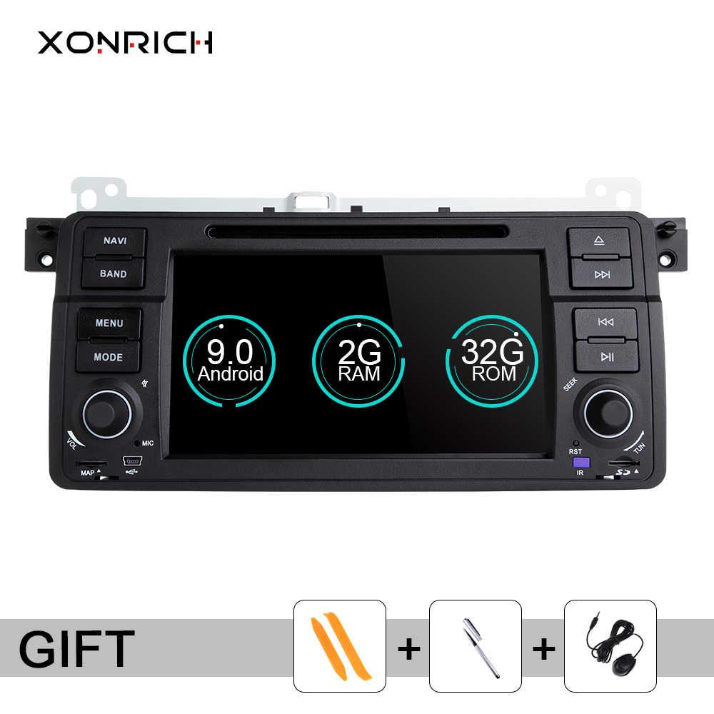 Xonrich Автомобильный мультимедийный плеер 1 Din Android 9,0 для BMW E46 M3 318i/320/325/330/335 Rover 75 MG ZT купе радио gps навигации BT