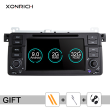 Xonrich Car Multimedia Player 1 Din Android 9.0 For BMW E46 M3 318i/320/325/330/335 Rover 75 MG ZT Coupe Radio GPS Navigation BT android 7 1 car dvd player stereo radio ips screen gps navigation for bmw e46 m3 mg zt quad core 2g 16g bulit in carplay