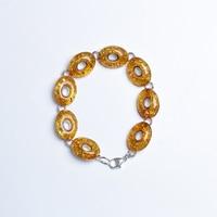 JIUDUO Amber Silver 925 Bracelet For Women Fashion Elegant Anniversary Gift