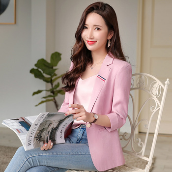 Fashion temperament suit jacket 2019 spring and summer new slim slimming professional small