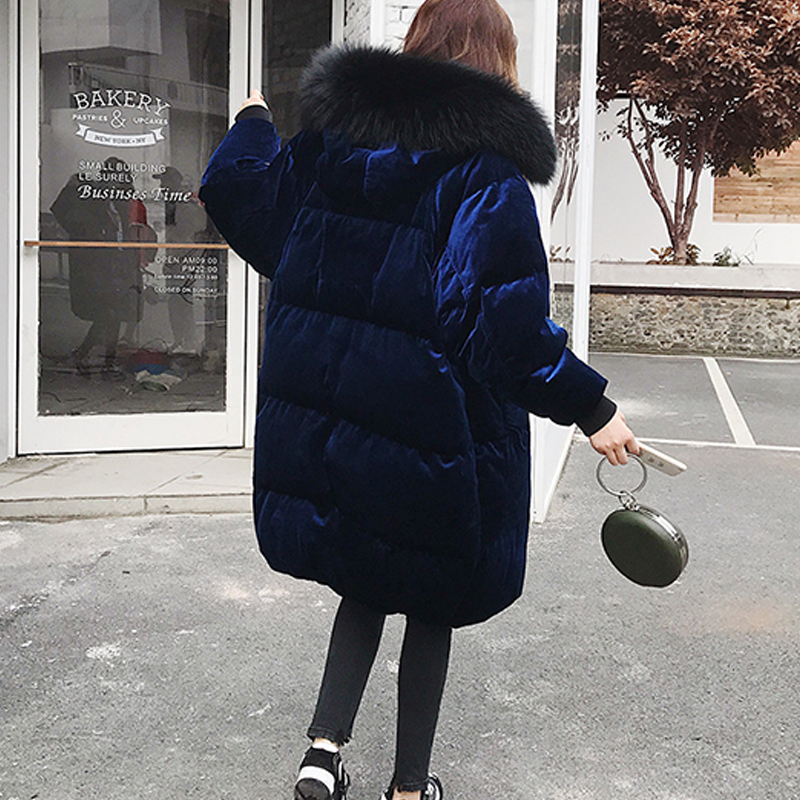 Manteaux Coréenne De À Doudoune D'hiver Blanc Bas Lz547 Duvet Parkas Longue Femmes 2019 Blue Velours 90 Femelle Canard Hijklnl Capuchon tpxwRfStq