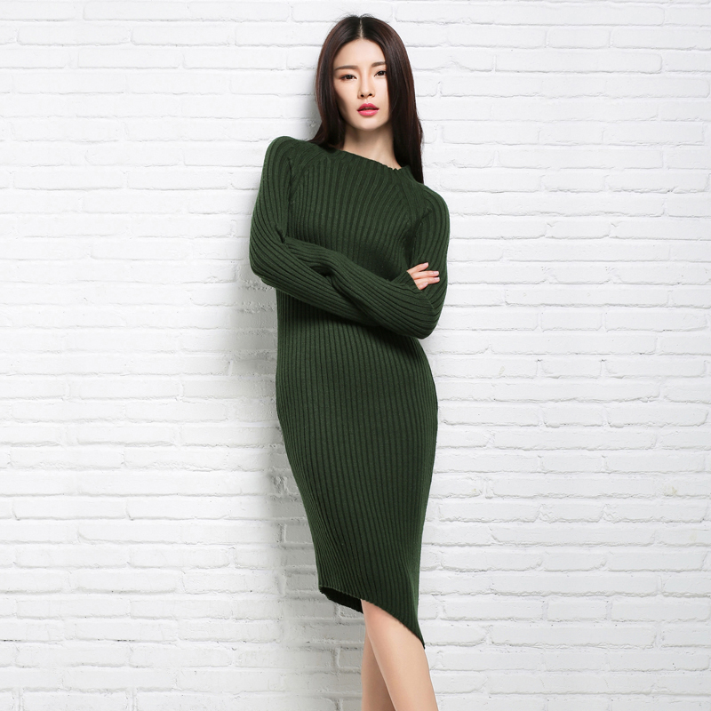 2018 adohon Fashion Women Sweaters and Pullovers Sueter Femme Winter Knitted Cashmere Wool Knitwear Dresses Oversized Cheap