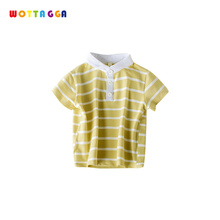WOTTAGGA 2019 T-shirt Short Sleeve Striped Summer Tops Clothes Cotton Soft For Children 1-7 Years Baby Sport T Shirt Clothing