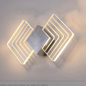 6W Butterfly Wings Style Warm White LED Wall Porch Light,Acrylic Wall Lamp Led Wall Sconce Lights Sconces Lamp with Brushed Silv
