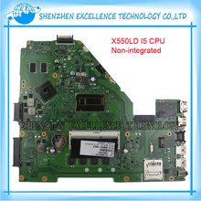 For ASUS X550LD laptop motherboard i5-4200U CPU GT820M REV2.0 Non-integrated Main board full tested 90NB04T0-R00070