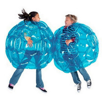 TSAI Inflatable PVC Bubble Soccer Ball Body Bumper Funny Outdoor Game Body Zorb Ball Football For Kids 24 60CM RED/BLUE