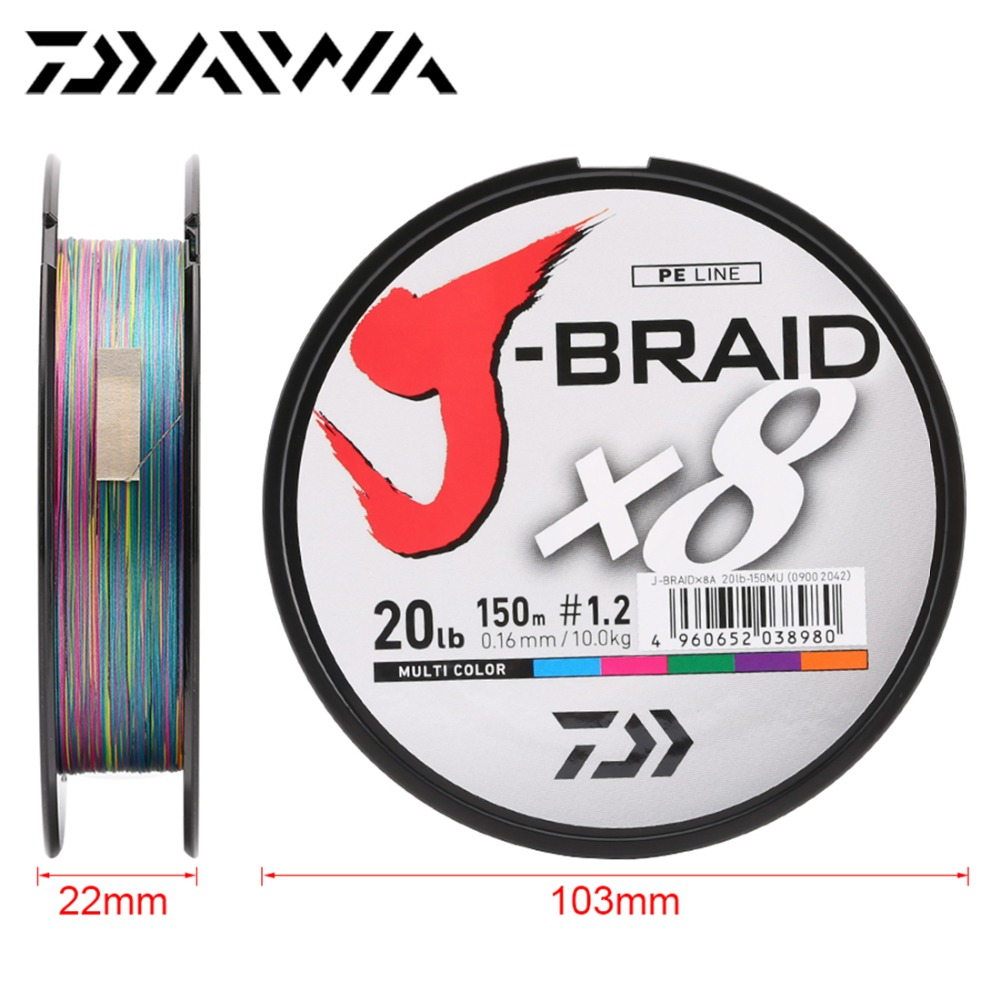 Image 4 - Daiwa J BRAID 8A 150M original green/grass green color  8 braided fishing line monofilament fishing line 10 60lb made in japan-in Fishing Lines from Sports & Entertainment