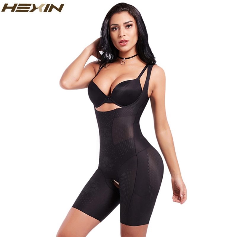 535c577f67bc HEXIN Women's Slimming Full Body Shaper Adjustable Straps Weight Loss  Smooth Bodysuits Control Waist butt lift