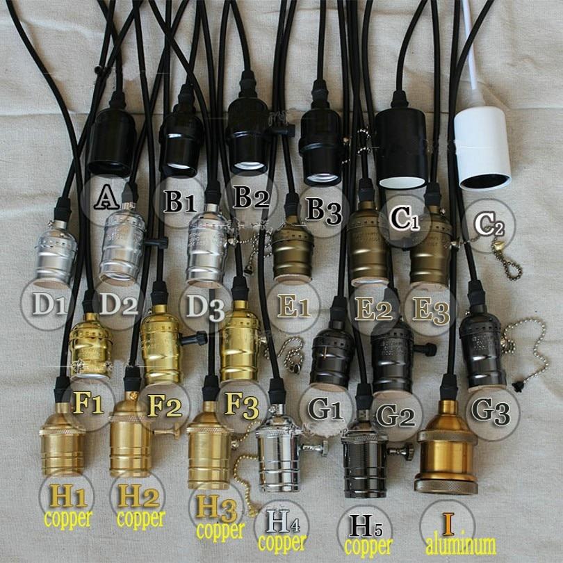 Sales Promotion ! E27 AC85V-240V Edison Lamp Light LED Bulb Socket Base holder +120cm cable For Retro Incandescent Filament Bulb