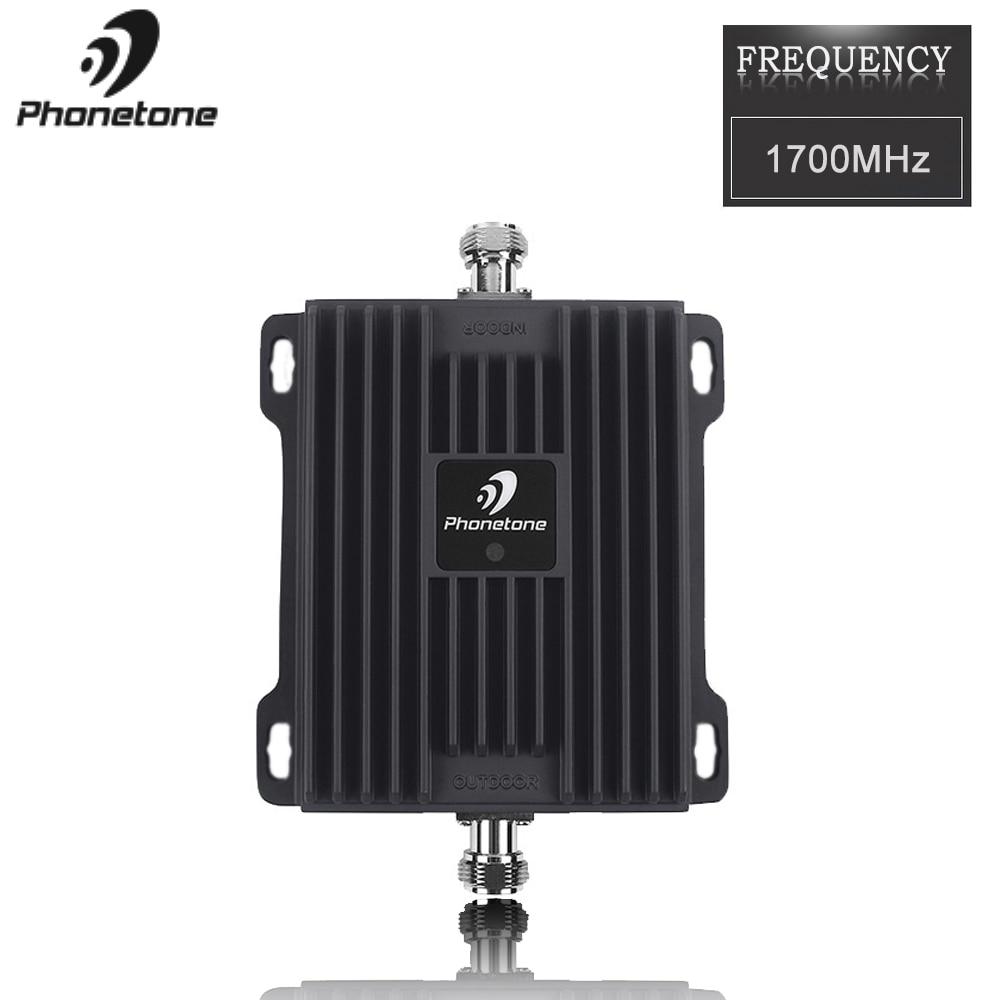 Cellulaire amplificateur de Signal 3G Répéteur 4G LTE Amplificateur Mobile Signal Booster 1700 MHz B4 téléphone portable répéteur de Signal 3G Amplificateur