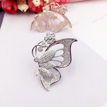 New Arrival Luxury Cubic Zirconia Butterfly Brooches Pins for Women Men Fashion Cute Insect Brooch Scarf Hat Sweater Jewelry