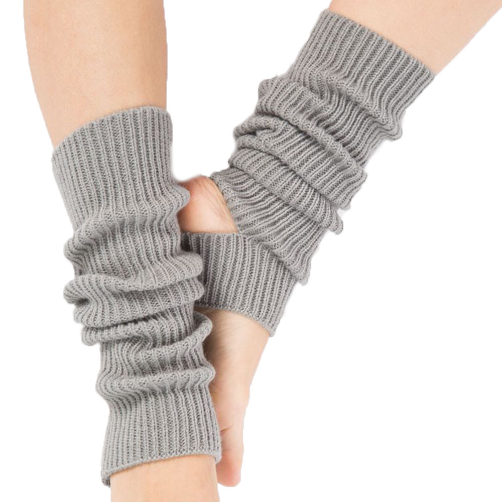 Girls knitted leg warmers