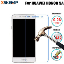 For HUAWEI HONOR 5A No Fingerprint Glossy Premium 9H 0.26M Tempered Glass Screen Protector Film Explosion Proof Protective Guard