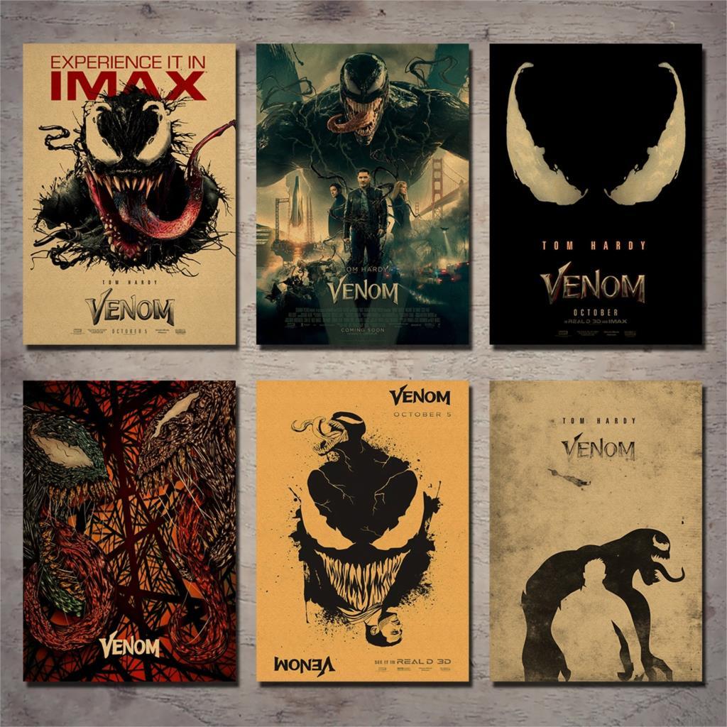 Venom Venom: Deadly Guardian Movie Poster Vintage Decorative Wall Sticker Retro Kraft Paper