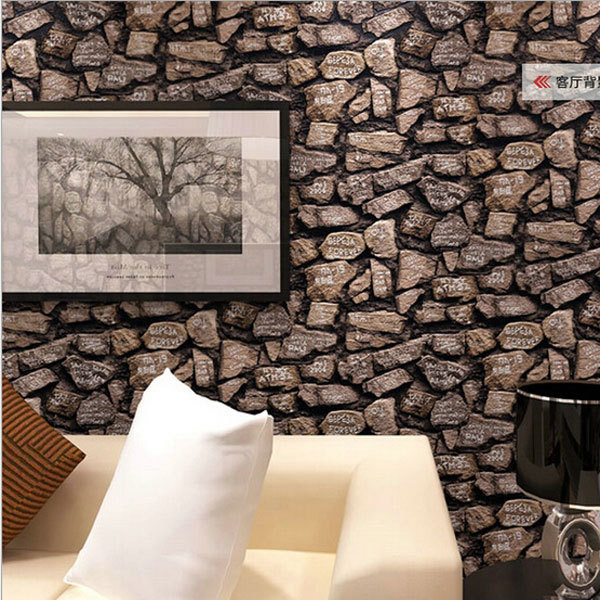 Modern thick 3d stone wallpaper stereo wallpapers home for Waterproof wallpaper for home