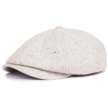 2017 New Newsboy Hats Hat For Man Fashion Spring And Autumn Winter Octagonal Cap Men British Style Check Casual Wide Brim Male