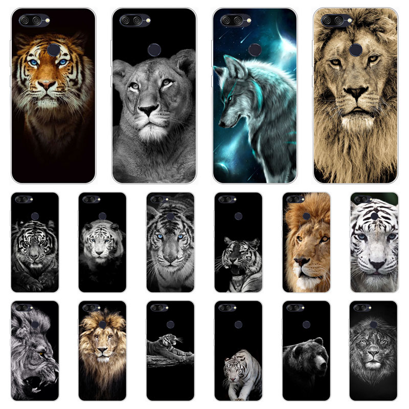 for ASUS Zenfone Max Plus M1 ZB570TL X018D Case,Silicon tigon beast Painting Soft TPU Back Cover for Asus ZB570TL Phone cases