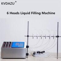 6 головок Электрический цифровой Управление насос разливочная машина жидкость парфюмерные воды для отжима сока и масла ликер бутылки молок