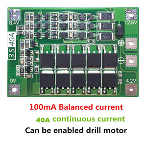 Image 1 - 3S 40A Li ion Lithium Battery Charger Protection Board PCB BMS For Drill Motor 11.1V 12.6V Lipo Cell Module with Balance