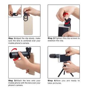 Image 5 - APEXEL 18X Télescope Zoom Mobile Lentille de Téléphone pour liphone Samsung Smartphones universel clip Telefon Camera Lens avec trépied 18 XTZJ