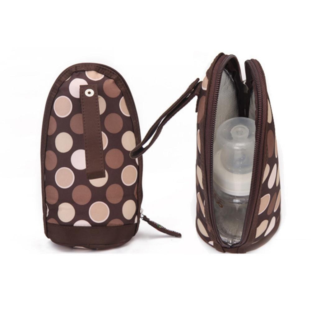 Portable Bottle Insulation Bag Baby Nursing Bottle Bag Milk Water Feeding Bottle Warmer Insulated Printing Pattern Tote Bag