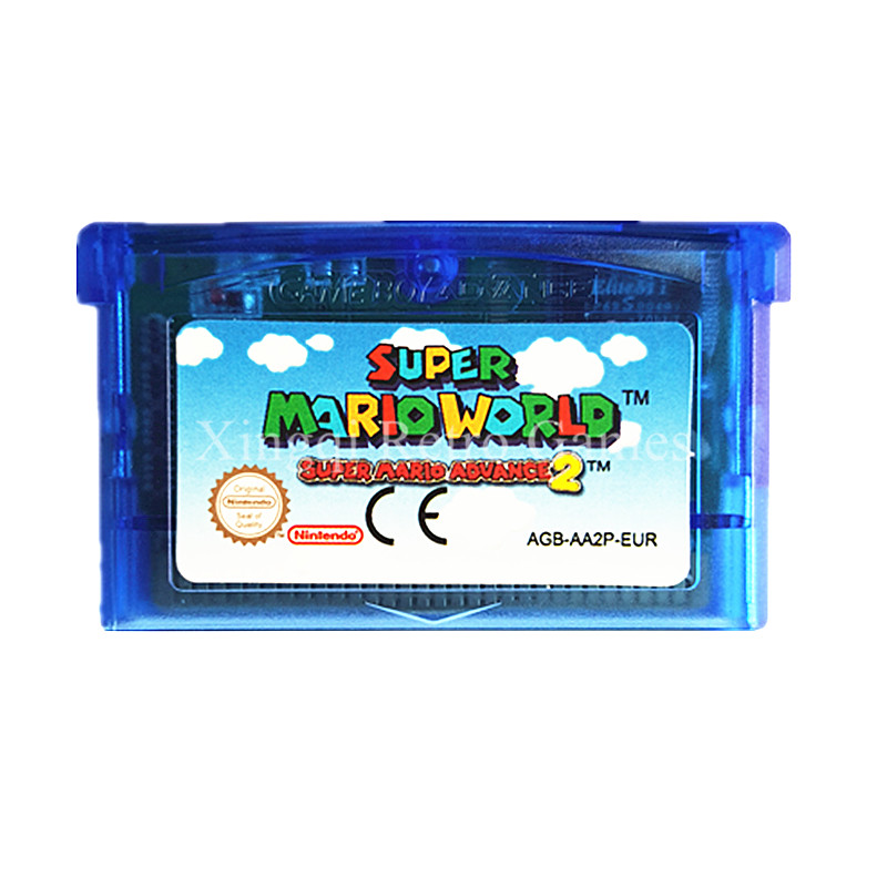 Nintendo GBA Game Super Mario Advance 2 Super Mario World Video Game Cartridge Console Card EU English Language 10pcs for nintendo gameboy advance sp gba sp ags 101 highlit screen lcd oem backlit brighter